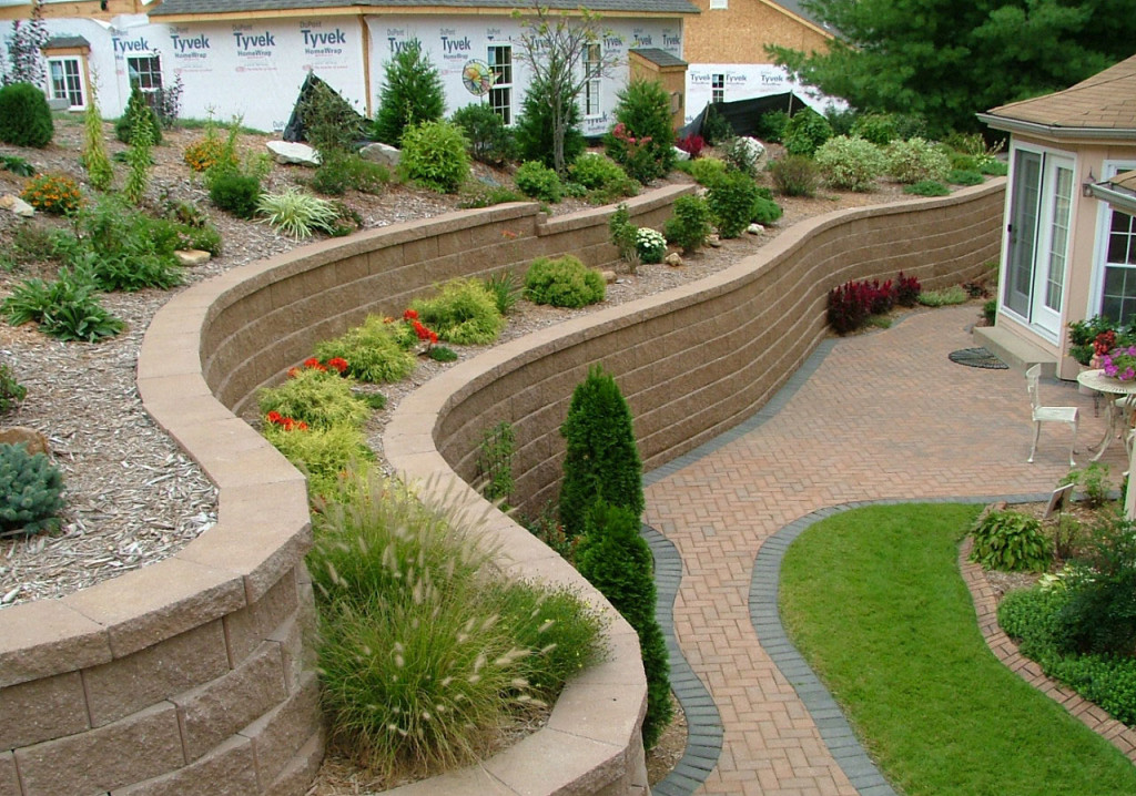 Retaining Wall Blocks Design for walls over 660mm high fortrac geogrid is locked in every 2nd course of blocks to create a reinforced soil retaining wall structure see design Retaining Wall4